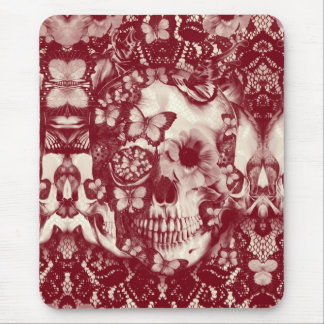 Crânio gótico do laço do Victorian Mouse Pad