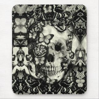 Crânio gótico do laço do Victorian Mousepad