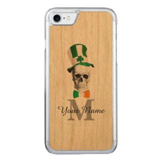 Crânio irlandês engraçado monogrammed capa iPhone 7 carved