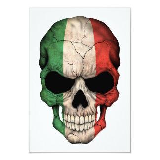 Crânio italiano da bandeira convite personalizados