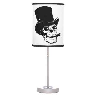 Crânio na lâmpada do chapéu alto