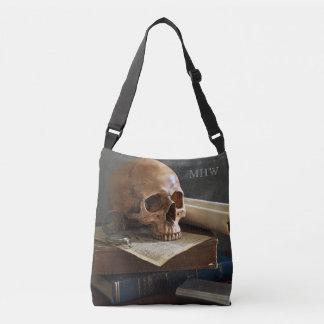 Crânio nas bolsas feitas sob encomenda do