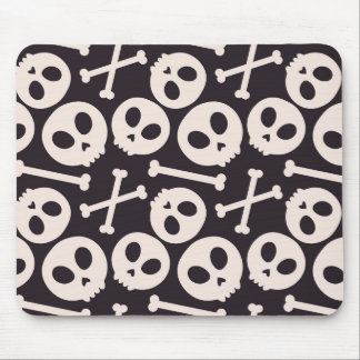 Crânio o Dia das Bruxas Mousepad assustador bonito