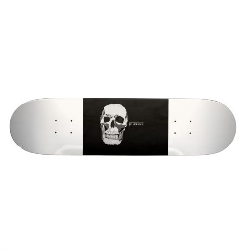 crânio pintado à mão original do skate