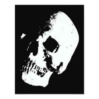 Crânio preto & branco convites personalizados