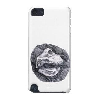 Crânio que tira o esboço animal imaginário capa para iPod touch 5G