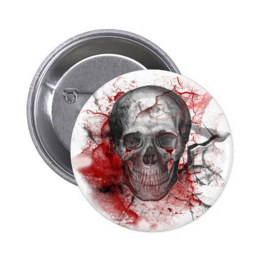 Crânio sangrento do Grunge gótico Boton