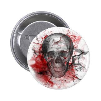 Crânio sangrento do Grunge gótico Bóton Redondo 5.08cm