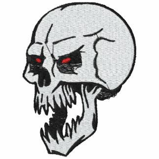 Crânio vicioso camisa bordada
