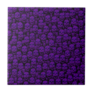 Crânios Azulejo Quadrado Pequeno