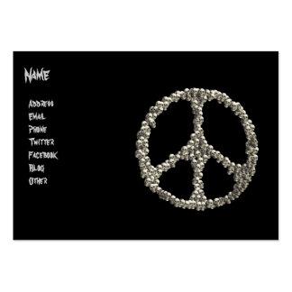 Crânios da paz modelos cartão de visita