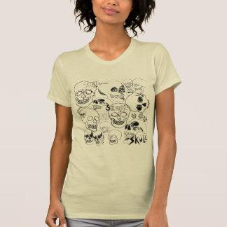Crânios do bloco de desenho camisetas