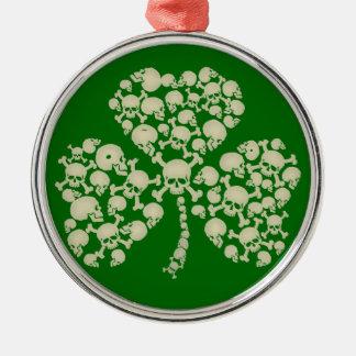Crânios irlandeses do trevo ornamento para arvore de natal