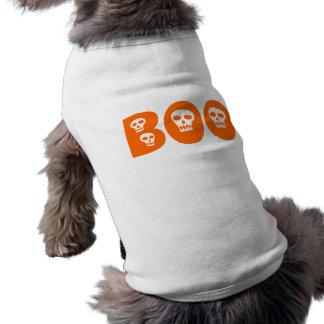 """Crânios """"vaia """" do Dia das Bruxas Camisa Sem Mangas Para Cachorro"""