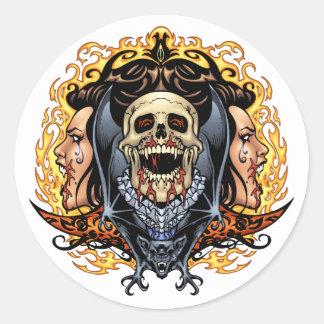 Crânios vampiros e bastões customizáveis pelo Al Adesivo