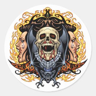 Crânios vampiros e bastões customizáveis pelo Al Adesivos