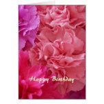 Cravos cristãos do cartão do feliz aniversario