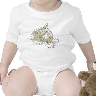 Creeper canadense da criança do cão Eskimo Macacãozinho Para Bebê