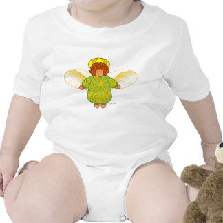 Creeper do anjo-da-guarda macacãozinho para bebê