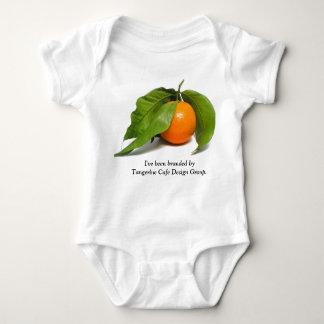 Creeper do café da tangerina body para bebê