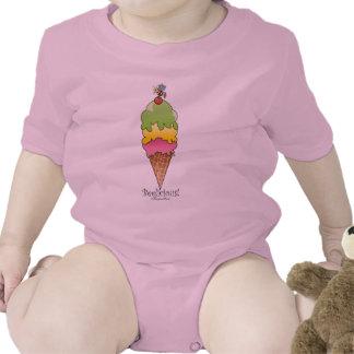 Creeper do cone do sorvete macacão
