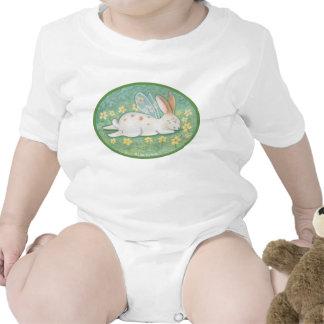 Creeper feericamente da criança do coelho do sono macacãozinho