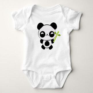 Creeper feliz da criança da panda do bebê tshirt