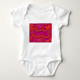 Creeper infantil Groovy com botões instantâneos Body Para Bebê