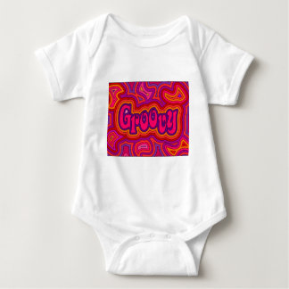 Creeper infantil Groovy com botões instantâneos Camiseta