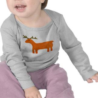 Creeper longo da criança da luva do fantoche da camisetas