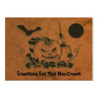 Creepers do Dia das Bruxas Convite 12.7 X 17.78cm