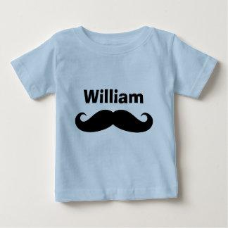 Creepers e camisas pretos do bebê do bigode do t-shirts