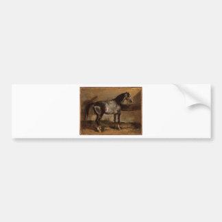 Cremalheira cinzenta do cavalo por Theodore Adesivo Para Carro