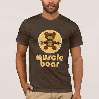 Creme do urso de ursinho do urso do músculo camiseta