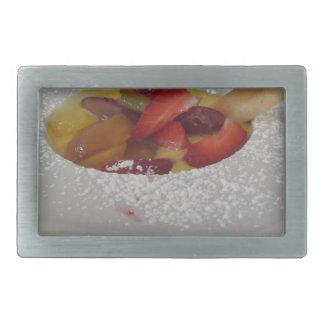 Creme do Zabaglione com fruta fresca e a bolacha