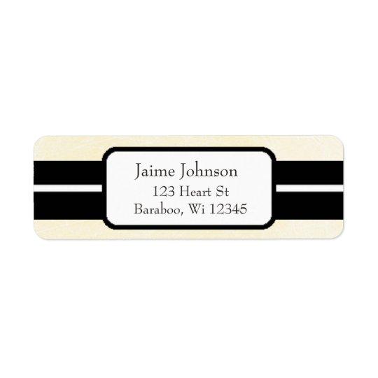 Creme e etiqueta elegante do endereço do remetente etiqueta endereço de retorno