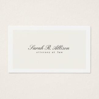 Creme elegante simples do profissional do advogado cartão de visitas