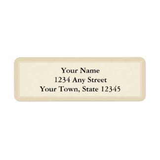 Creme & etiqueta de endereço do remetente feita