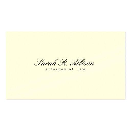 Creme minimalista elegante do advogado colorido cartões de visita
