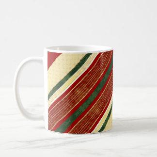 Creme vermelho verde do ouro da caneca de café |