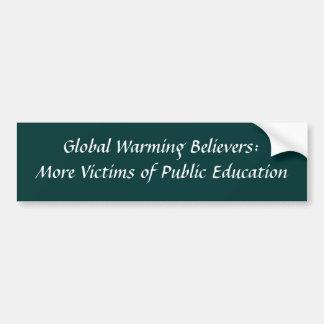 Crentes do aquecimento global: Mais vítimas do púb Adesivo Para Carro
