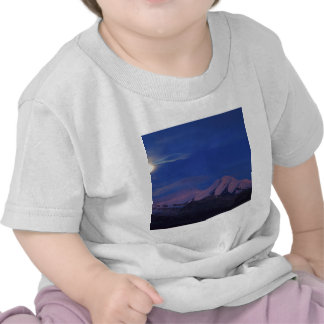 Crepúsculo Alaska do cetim do céu T-shirts