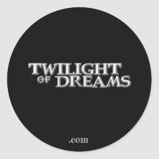 Crepúsculo da etiqueta dos sonhos