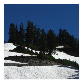 Crepúsculo do verão do padeiro do Mt Convite Quadrado 13.35 X 13.35cm