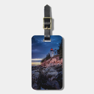 Crepúsculo sobre o farol baixo do porto, Acadia Etiquetas Para Malas