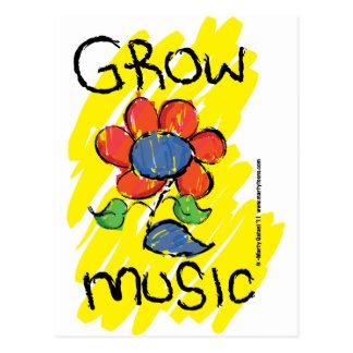 Cresça alguma música. Refrigere o design musical Cartão Postal