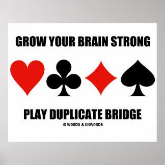 Cresça sua ponte forte da duplicata do jogo do poster