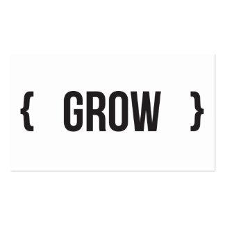 Cresça - suportado - preto e branco cartões de visita