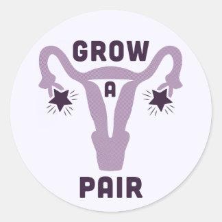 Cresça uma etiqueta dos pares [de ovário]