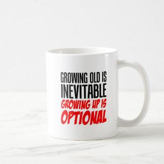 Crescer acima é caneca opcional